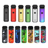 SMOK Nord Kit SMOK Nord is a button-triggered pod system device. It has a 1100mAh battery capacity and is equipped with two coils, Nord Mesh 0.6Ω for direct lung vaping and Nord regular 1.4Ω for mouth to lung vaping.