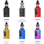The Smok Guardian 40W vape kit is compact and versatile, making it the ideal choice for both new vapers as well as experienced ones alike. Powered by a larger 1600mAh battery, it features a 40W variable output that can be adjusted to suit your preference. This kit comes complete with the Smok TF RPM 2ml tank. Compatible with the entire RPM coil range, you can configure this kit to deliver your ideal level of vapour and flavour. This kit should be paired with high PG e-liquid, that's 50% PG or higher.