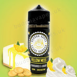 Yellow Mess by Buddha Vapes E-Liquid is a buttery biscuit base with a sweet lemon cream topping. Primary Flavours: Lemon, Biscuit and Cream VG/PG: 80/20 Size: 100ml + 2x10ml bottles of 18mg Nic Shots included with each bottle you order. Country: UK Please Note: This e-liquid is provided in a 120ml bottle with 100ml of e-liquid, allowing you to add 2x10ml of 18mg Nicotine Shots (if required) to make it 3mg.