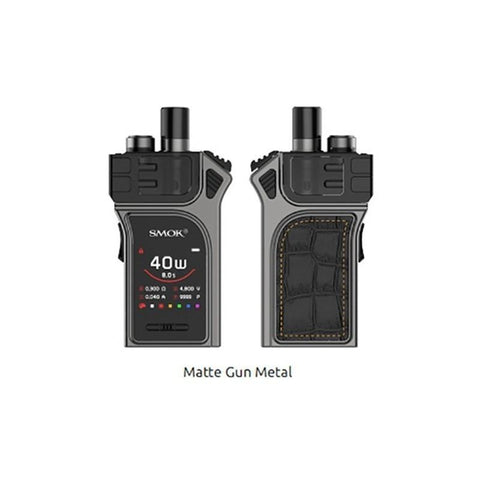 The Smok Mag pod kit is one of the more powerful pod kits on the market. It supports both mouth to lung vaping as well as restricted direct to lung vaping. This is thanks to the 40W max output and a wide range of compatible coils. Powered by a built-in 1300mAh battery it features quick-charging capabilities. Each kit comes complete with the specially designed Mag RPM pods, compatible with the entire Smok RPM coil range.