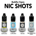 Buddha Vapes 18mg Ice Nicotine Shot  Ice Nicotine E Liquid Shot 10ml Icy Nicotine Shot ready to be mixed with concentrates and E liquids to increase the nicotine strength. Strength = 18 mg.  VG/PG = 80VG/20PG Size = 10ml