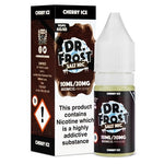 Cherry Ice eLiquid by Dr Frost Salt Nic is a burst of juicy sweet cherries on the inhale with a nice chilly menthol on the exhale.