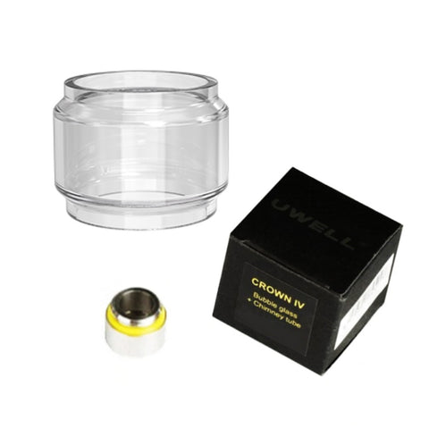 Genuine replacement Uwell Crown 4 tank bulb glass and chimney extension piece.    Less time filling means less time for your tank and e-liquid bottles to be potentially left open, keeping the e-liquid kept secure in your closed tank.