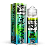Twisted Ice Cream shortfill e-liquid by Double Drip is a complex blend of fruit and cream tastes. A sharp yet smooth pineapple ice cream greets you at first, followed by a zesty lemon and sweet strawberry and finished off by a cooling lime sorbet for a complex vape.