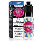 Pink Berry by Dinner Lady Salt E-Liquid is a blend of mixed berries with a sharp citrus burst.