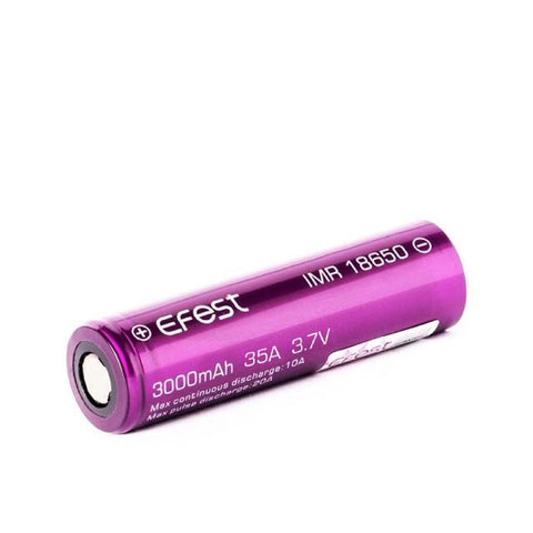 The Efest IMR 18650 3000mah battery has been designed for a range of vape kits and vape devices, please check compatibility before use.