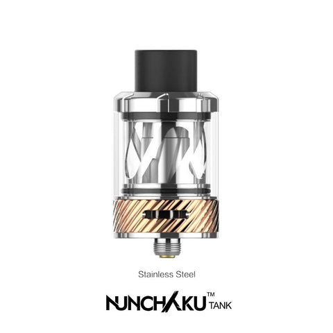 The Uwell Nunchaku Vape Tank, is a 24mm Sub Ohm tank designed for experienced vapers - with top fill capabilities and adjustable bottom airflow. Originally included as an accompaniment to the Nunchaku Starter Kit, due to it's popularity it's now available on its own.