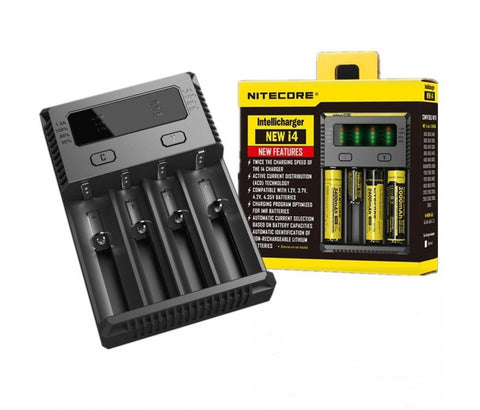 Nitecore New I4 battery charger is a universal, smart-charger compatible with almost all types of rechargeable batteries. It is a new version of I4. You can charge at up to 1.5A in one slot, which halves your waiting time