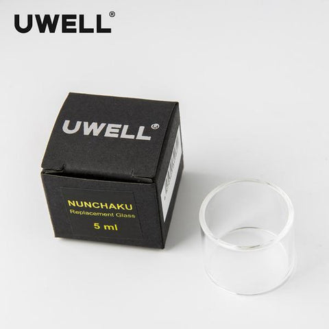 Increase your Uwell Nunchaku tank to 5ml capacity with this extension bulb glass.  Less time filling means less time for your tank and e-liquid bottles to be potentially left open, keeping the e-liquid kept secure in your closed tank.