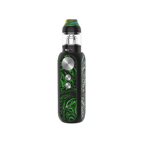 OBS Cube X Vape Kit 80w The eye-catching Cube X kit from OBS boasts the very best in portability and power, with a maximum 80watt output and a generous 18650 external battery (Sold Separately) housed in a beautiful zinc alloy and resin exterior.