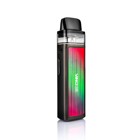 The VooPoo Vinci Air kit is a light and simple pod vape kit, intentionally designed to be easy to use, it offers a good introduction as well as remaining a device that advanced vapers will feel comfortable using day-to-day. Powered by a 900mAh built-in battery it features a variable wattage output, allowing you to tailor performance, with a max output of 30W.