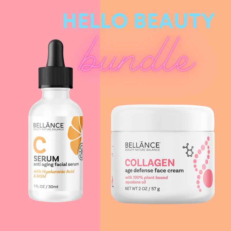 HELLO BEAUTY BUNDLE  Vitamin C Serum + Collagen Cream