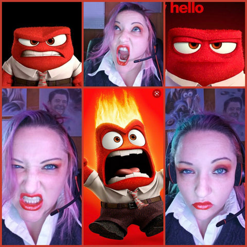 anger character from pixars inside out dressup by rebekah
