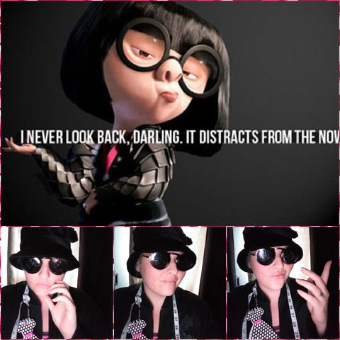 edna mode from the incredibles and rebekah the beautiful