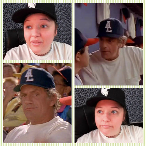 rebekah emulating al aka christopher lloyd from angels in the outfield