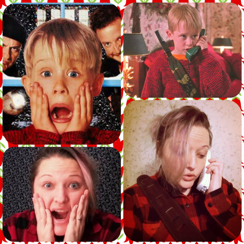 rebekah emulating kevin from home alone