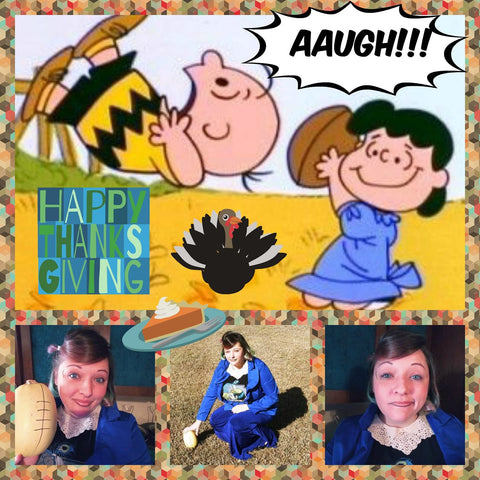 rebekahs emulation of lucy in a charlie brown thanksgiving