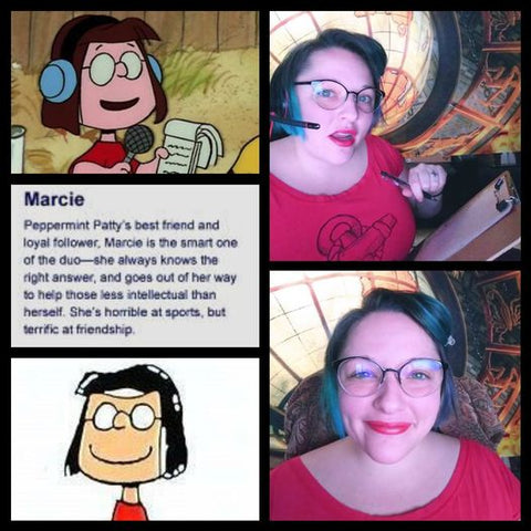 rebekahs emulation of marcie the cartoon classic from peanuts
