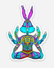 trippy bugs bunny painting sticker by sketchy eddie