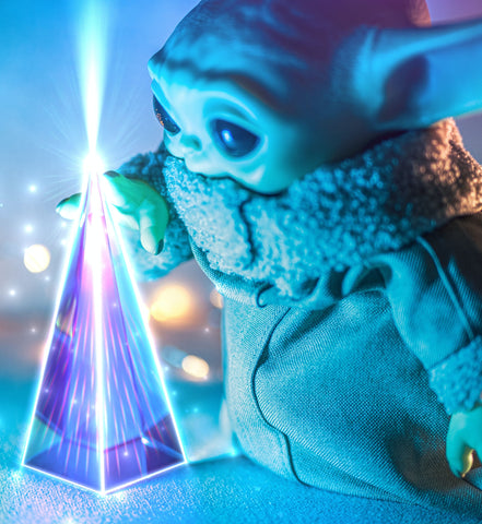 Photo by Victor Serban - Baby Yoda with a light spectrum - Unsplash