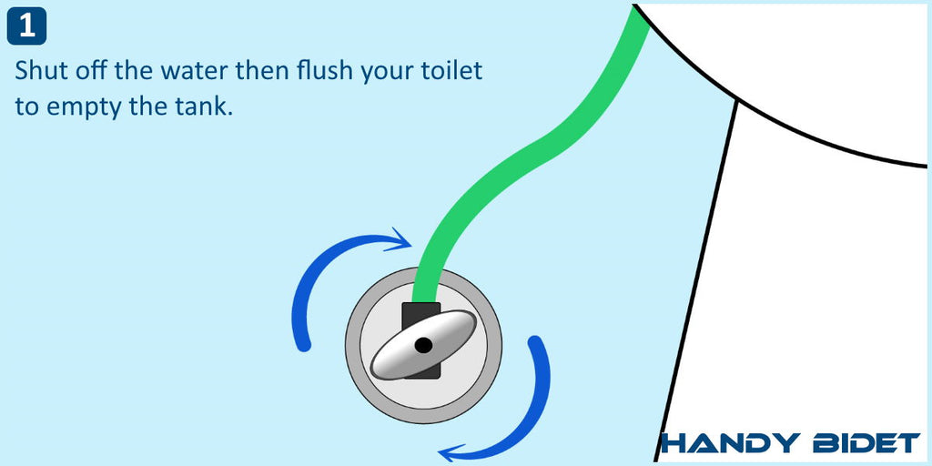 How to install hand held bidet step 1
