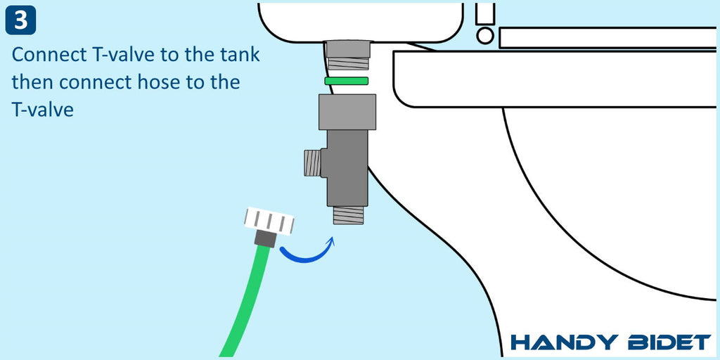 How to install hand held bidet step 3