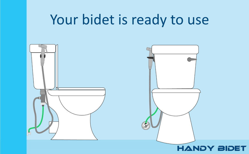 How to install hand held bidet step 6