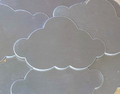 Aluminum Cloud Ornament Stamping Blanks
