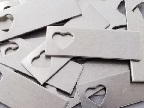 Aluminum Heart Tag Stamping Blanks
