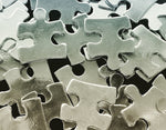 Pewter Cast Puzzle Stamping Blanks, Flat Edge
