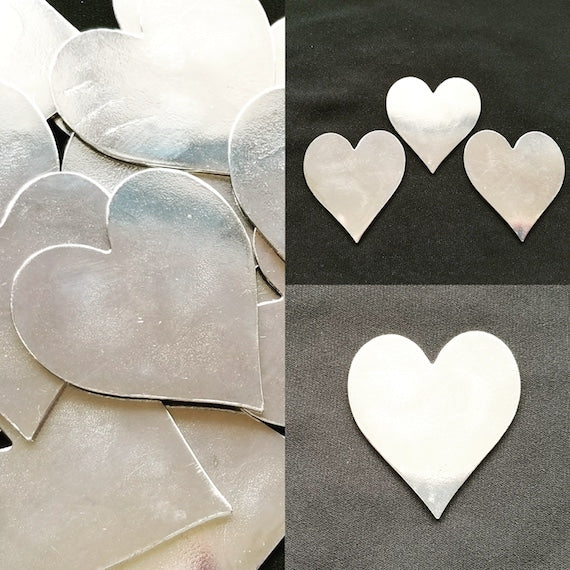 Pewter Casted Heart Ornament - Qty 1