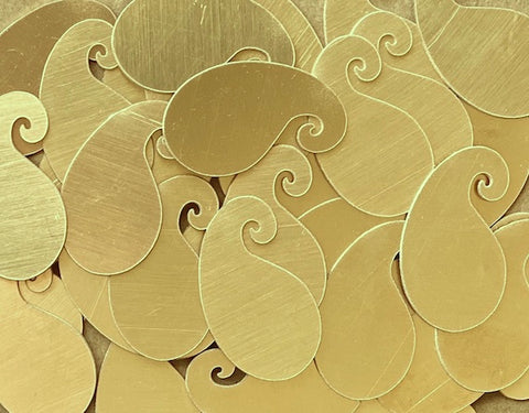 Brass Paisley Stamping Blanks