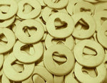 Brass Heart Discs Stamping Blanks