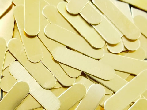 Brass Oblong Tags Stamping Blanks