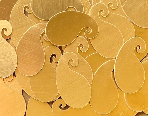 Bronze Paisley Stamping Blanks