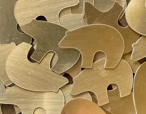 Bronze Zuni Bear Stamping Blanks