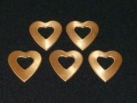Bronze Heart Washers Stamping Blanks