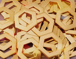 Bronze Hexagon Washer Stamping Blanks
