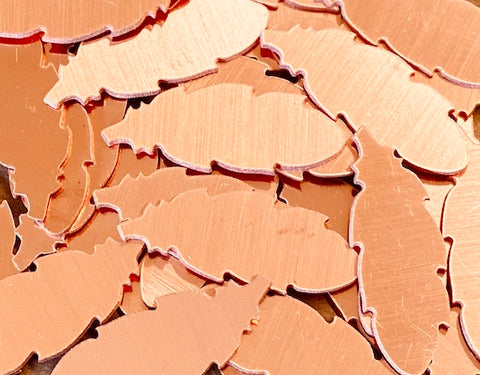 Copper Feather Stamping Blanks
