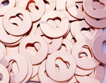 Copper Heart Discs Stamping Blanks