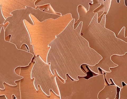 Copper Wolf Head Stamping Blanks