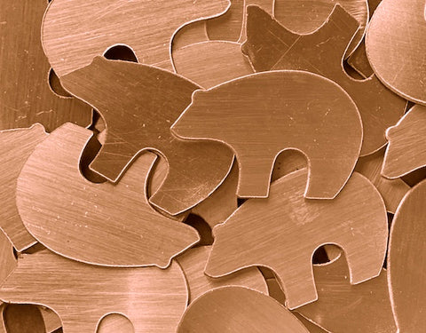 Copper Zuni Bear Stamping Blanks
