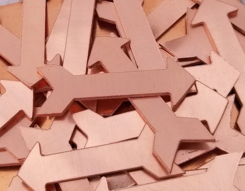 Copper Arrow Stamping Blanks