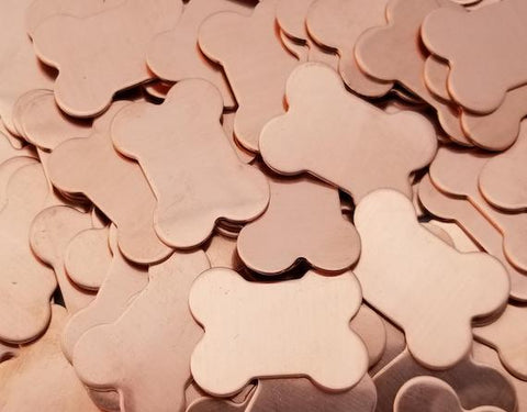 Copper Dog Bones Stamping Blanks