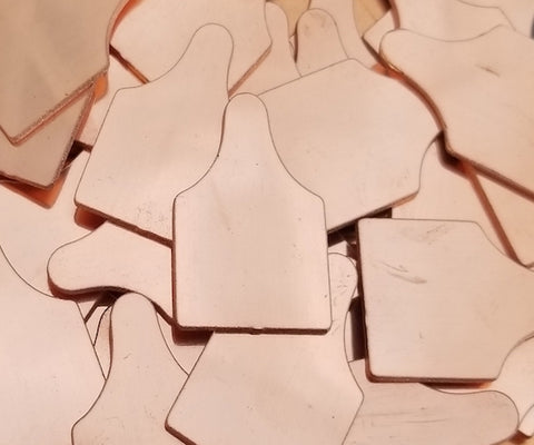Copper Ear Tags Stamping Blanks