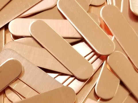 Copper Oblong Tags Stamping Blanks