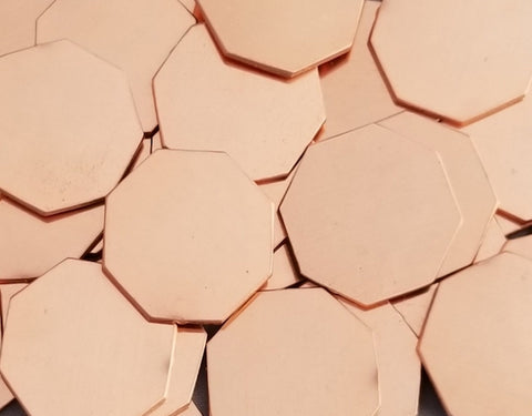 Copper Octagon Stamping Blanks