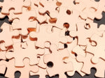 Bronze Puzzle Pieces, 4-sided Stamping Blanks