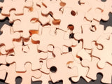 NuGold Puzzle Pieces, 4-sided Stamping Blanks
