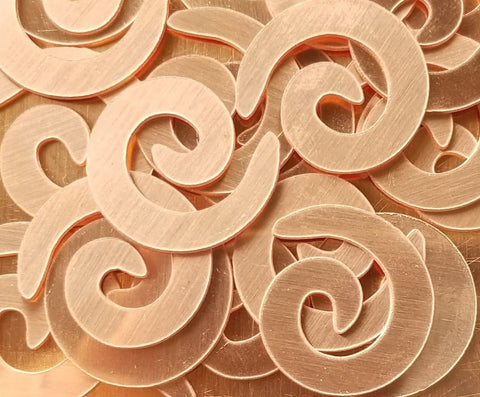 Copper Spiral Stamping Blanks
